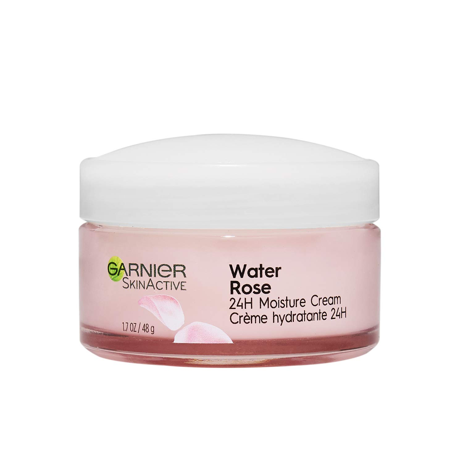 Garnier SkinActive 603084571253 24H Moisture Cream with Rose Water and Hyaluronic Acid, Face Moisturizer, For Normal to Dry Skin, 1.7 Fl Oz