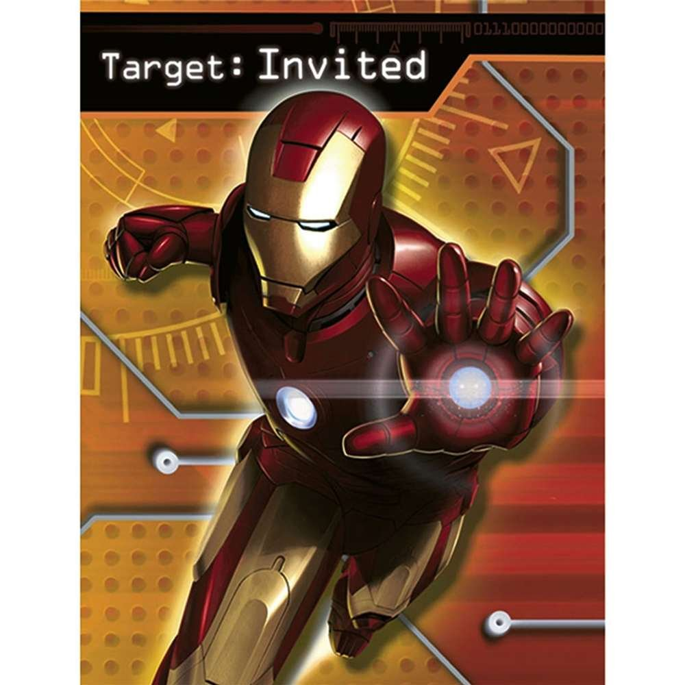 Amazoncom Iron Man Invitations w Envelopes 8ct Toys Games