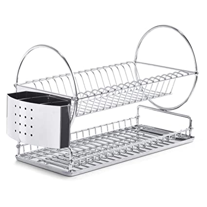 Amazon.com: Zeller 27266 42.5 x 23 x 30 cm Plate Drying Rack ...