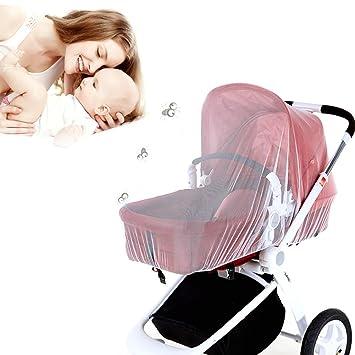 Aolvo - Mosquitera plegable para bebé, para cochecito de bebé, tamaño universal, portátil