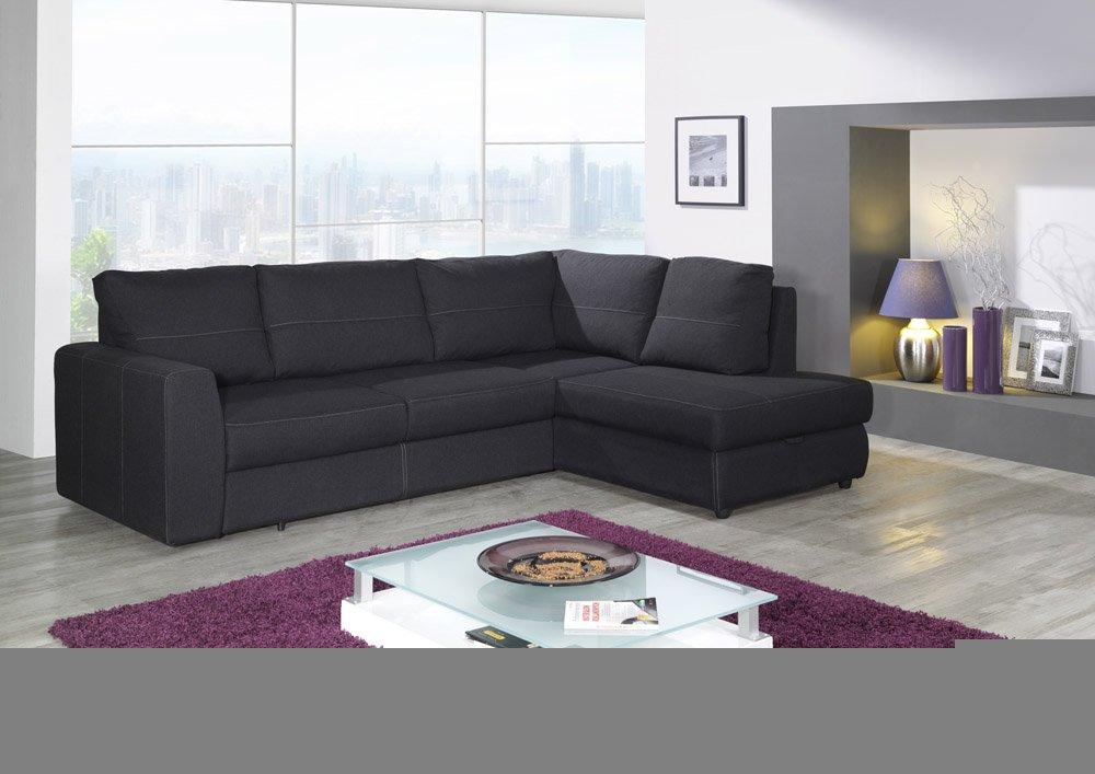 Bernd 0405 Sun 29 Dunkelbrauner Stoff Sofa Couch Polsterecke