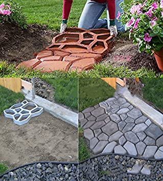 Awesome Driveway Paving Brick Patio Concrete Slabs Pathmate Path Garden Walk Maker  Mould