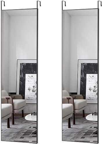 Elevens Aluminum Frame Door Mirror 48″x14″ Full Length Mirror