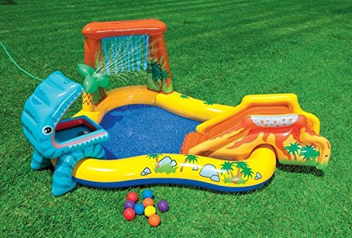 Intex 95in x 75in x 43in Dinosaur Play Center Kids Swimming Pool + Air Pump by Intex (Image #1)
