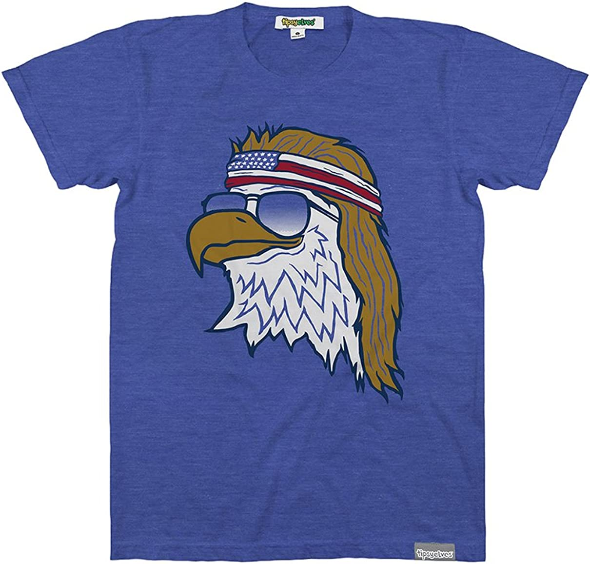 Funny Men's Animal Themed Patriotic Graphic Tees for 4th of July and Summer