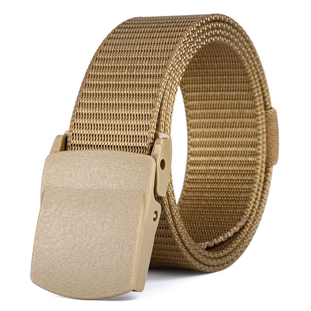 XFentech Mens Tactical Belt Nylon Canvas Webbing Waist Belt Plastic Buckle