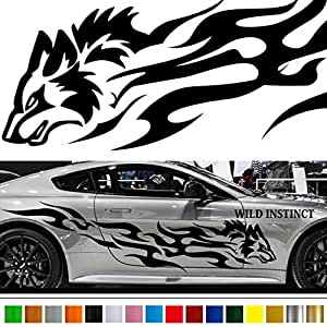 wolf car sticker car vinyl side graphics wa27 car vinylgraphic car custom stickers. Black Bedroom Furniture Sets. Home Design Ideas