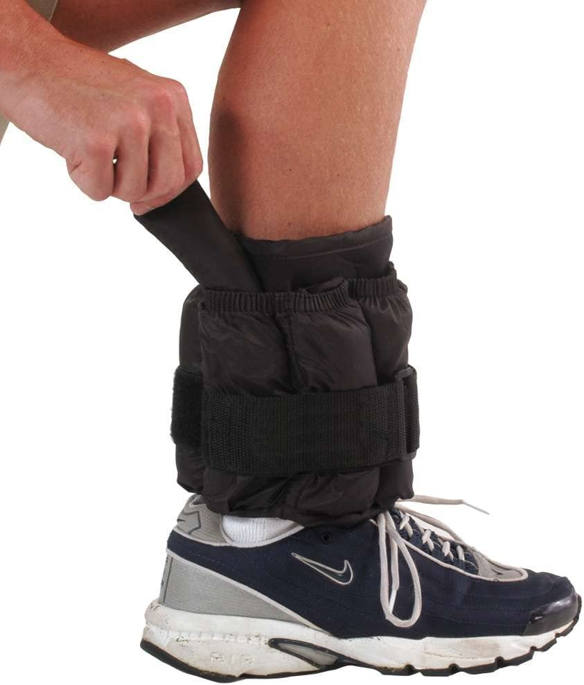 Power Systems Premium Ankle or Wrist Weight, One Adjustable Cuff with 20-Pounds of Removable Weights, Gray 90590