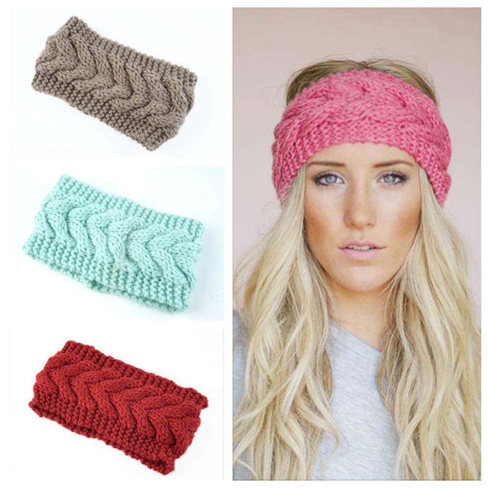 Amazon Women Wool Knit Crochet Twist Headband Ear Warmer
