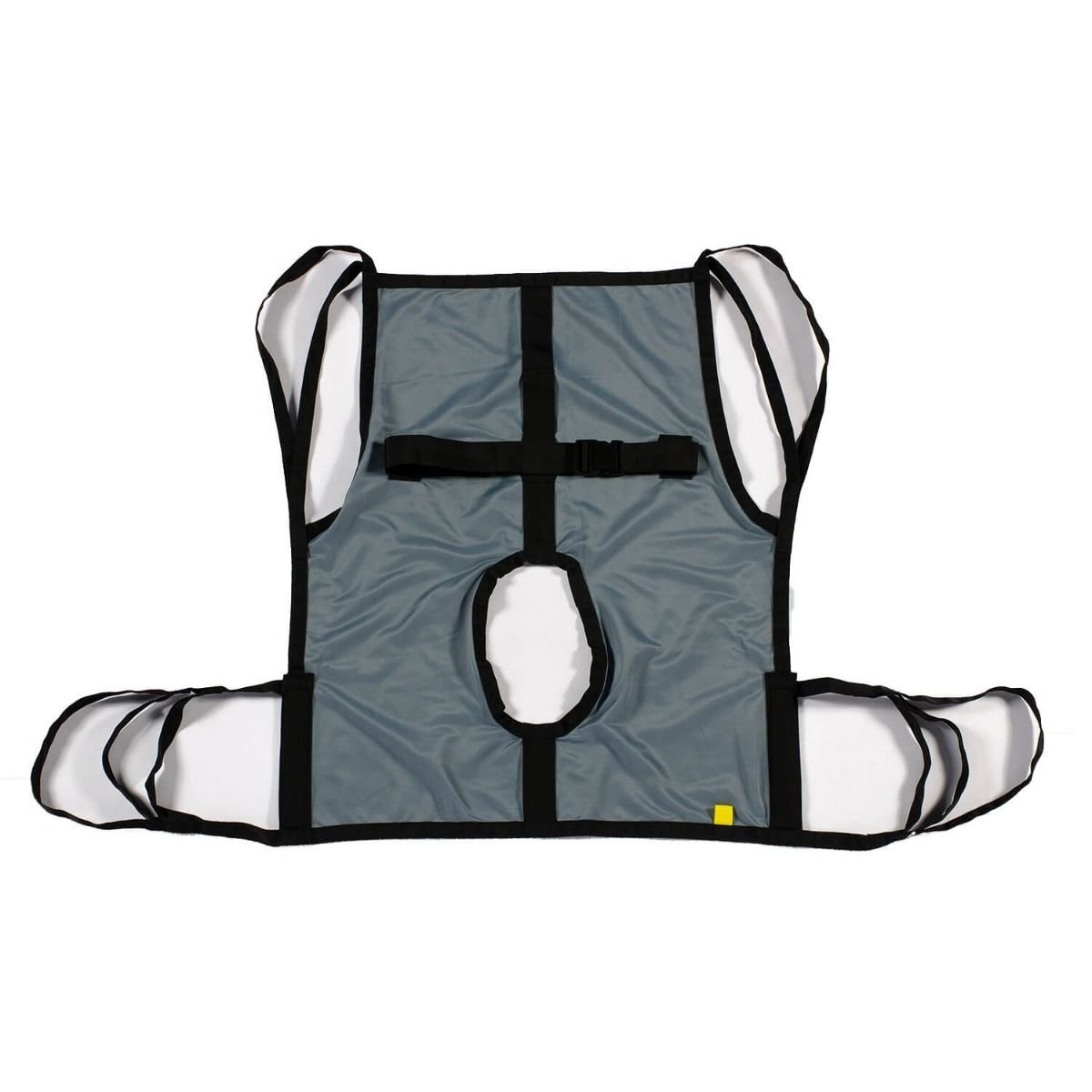 One Piece Commode Patient Lift Sling with Positioning Strap, Full Body 600lb Capacity (Small)