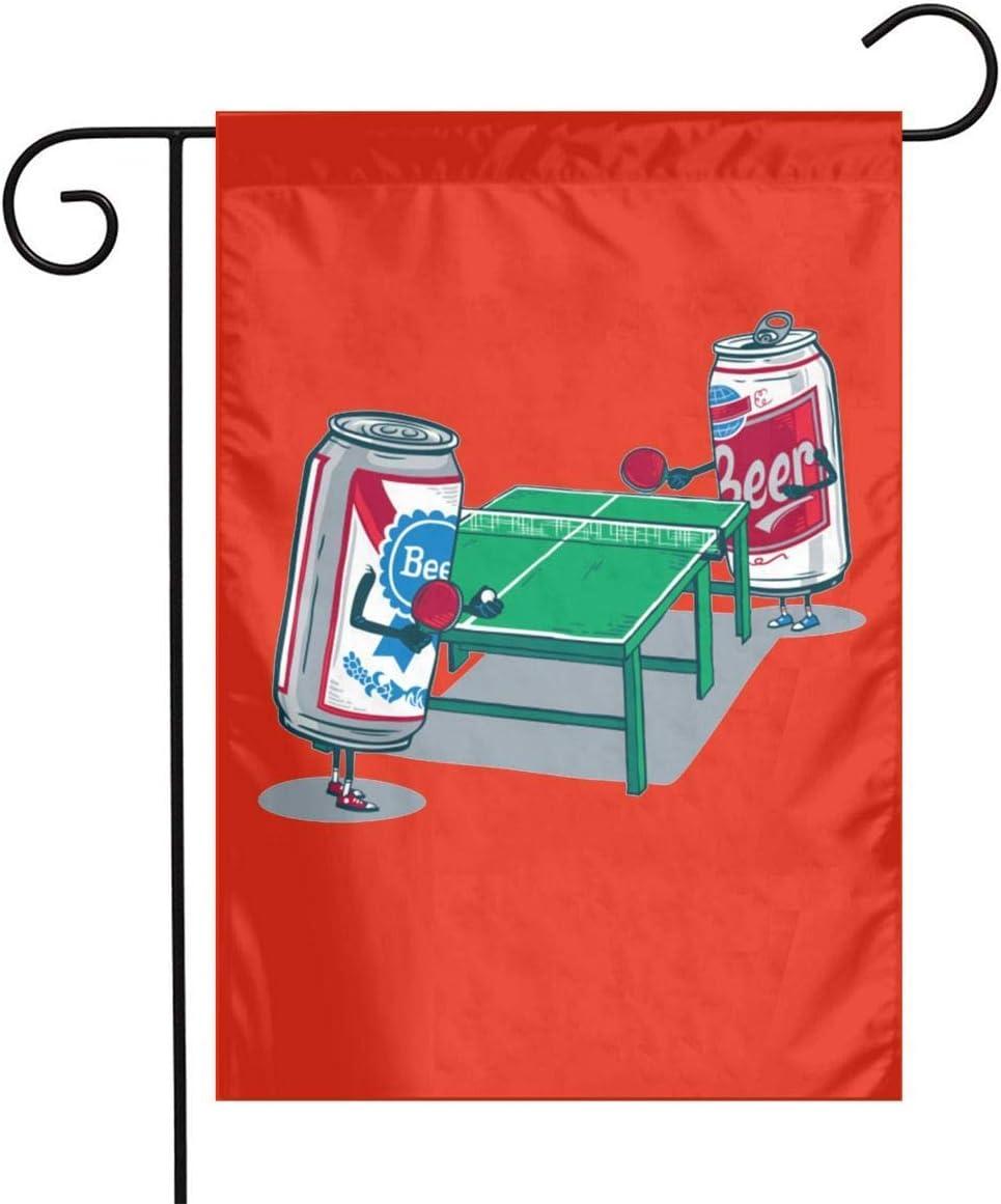 Not Applicable Bandera de la Bandera del jardín de Beer Pong Bandera Decorativa al Aire Libre de un Solo Lado Bandera de 12.5