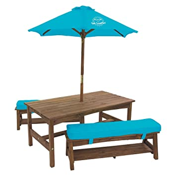 Sun Smarties Kids Picnic Table U0026 Benches With Umbrella