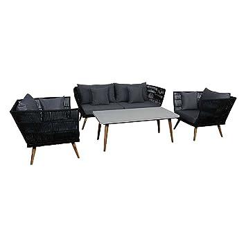 Amazon.de: OUTLIV. Loungemöbel Outdoor Santorin Sofagruppe 4tlg ...