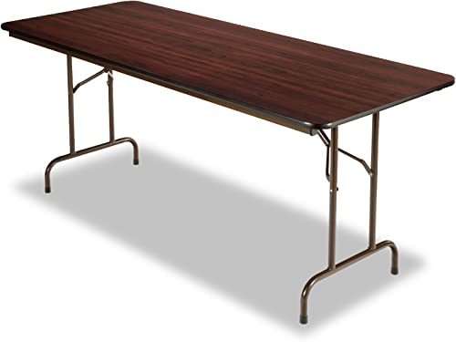 Alera FT727230WA Wood Folding Table, Rectangular, 72w X 29 3 4d X 29h, Walnut
