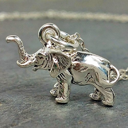African Elephant Necklace - 925 Sterling Silver