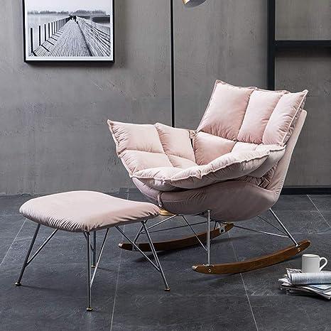 Zhengowen Sillones Mecedora tapizada Simple for el hogar ...