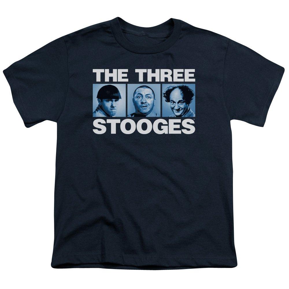 Three Stooges The Comedy Act Three Squares Portrait Big Boys T-Shirt Tee Trevco