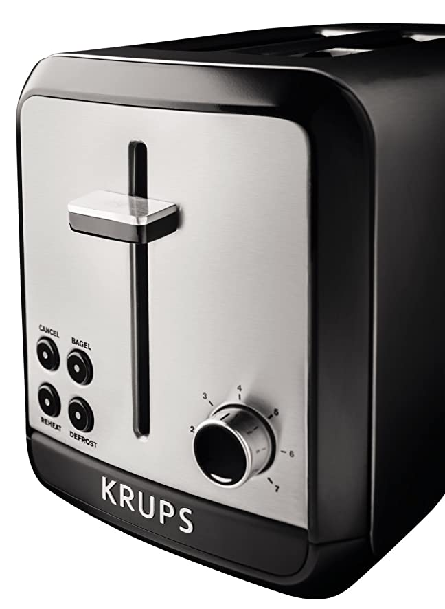Amazon.com: KRUPS KH3110 SAVOY Brushed Stainless Steel Toaster ...