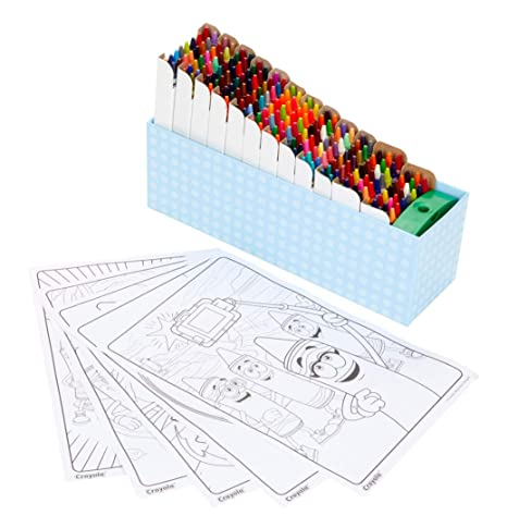 Amazon Com Crayola 208count Crayon Collection With Coloring Pages