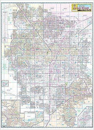 Greater Las Vegas Area Wall Map Dry Erase Laminated Metro Maps