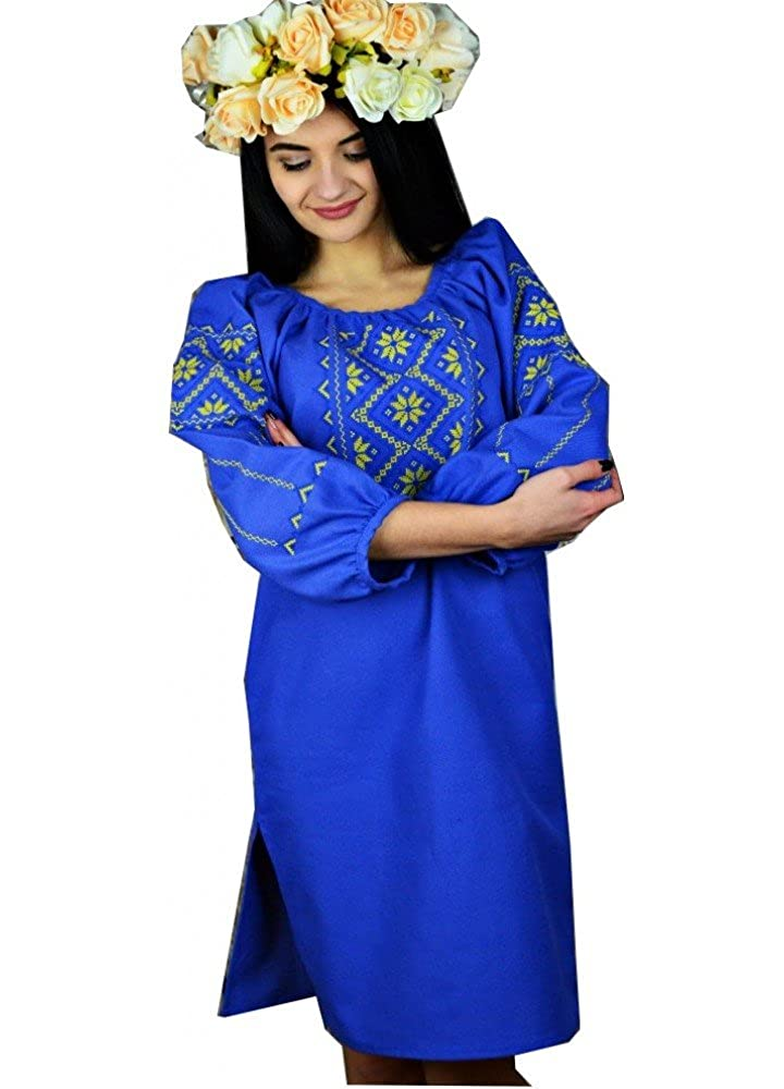 Ukrainian Embroidered Folk Traditional Dress Ukrainian Style (Vyshyvanka).