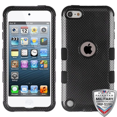 MyBat iPod touch (5th gen)/ (6th gen) TUFF Hybrid Phone Protector Cover - Carbon Fiber/Black (Ipod 5 Cases Made By Mybat)