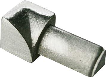 250cm//11mm Edelstahl glänzend Fliesenschiene,Innen-//Außenecke Viertelkreisprofil