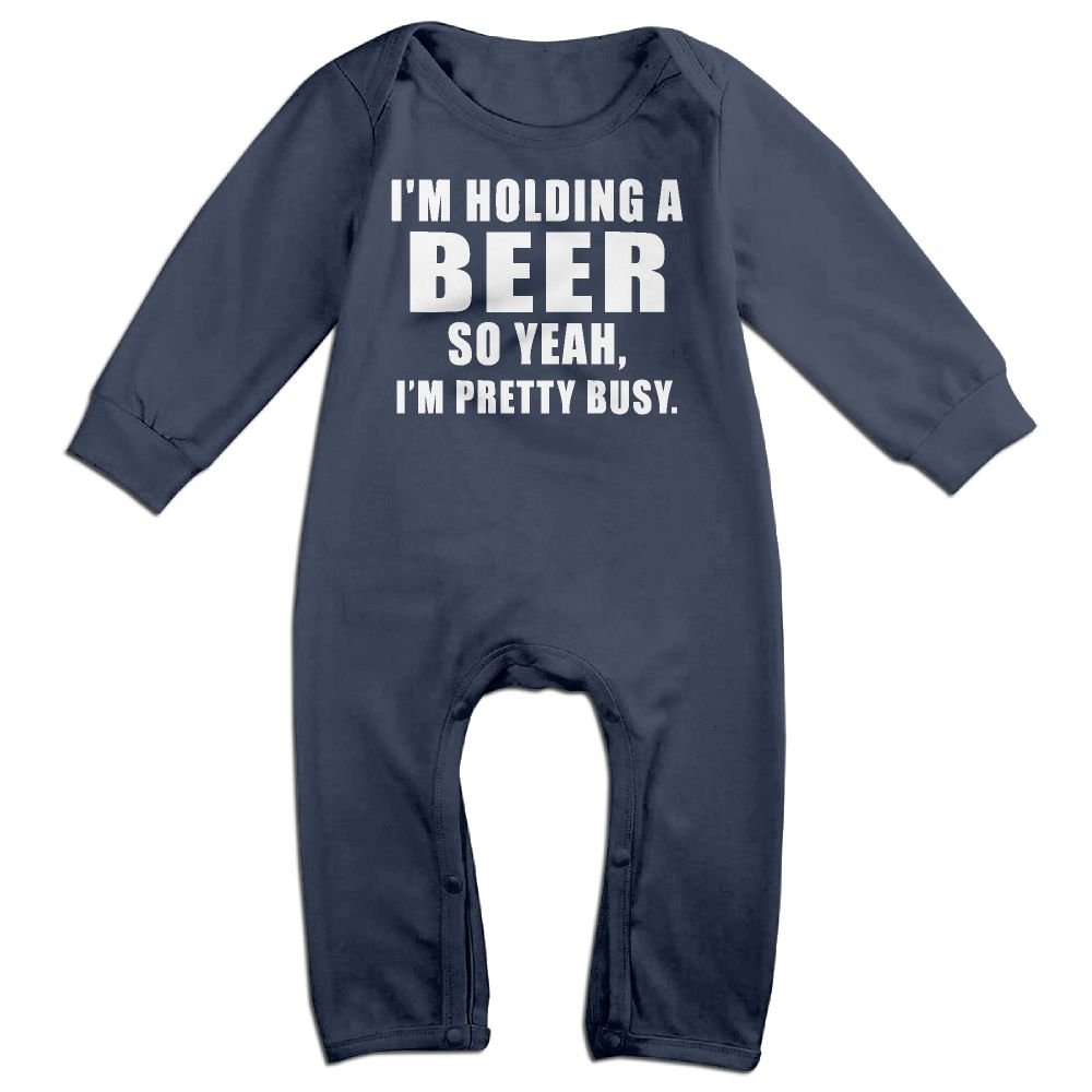Toddler Baby Boy Girl Long Sleeve Jumpsuit Im Holding A Beer 2 Baby Rompers