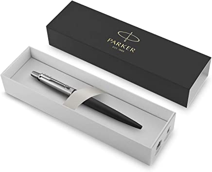 Bond Street Black Chrome Trim 2016 Parker Jotter Premium Ballpoint Pen