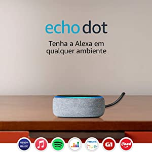 Echo Dot (3ª Geração): Smart Speaker com Alexa - Cor Cinza
