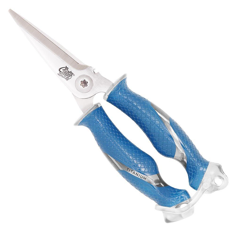 Cuda 8-Inch Titanium Bonded Snips, Blue