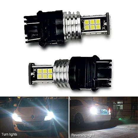 2pcs 3056 3156 3057 3157 Bombillas LED con proyector para luces de marcha atrás de respaldo ...