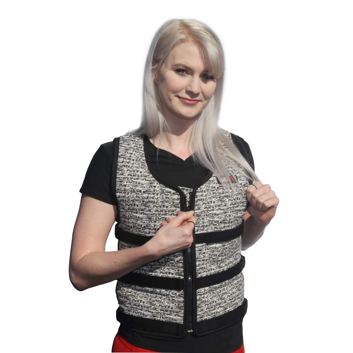 Mir Super Slim AIR Flow Adjustable Weighted Vest Machine Washable. for Men & Women (Black - 16LBS) by Mir (Image #7)