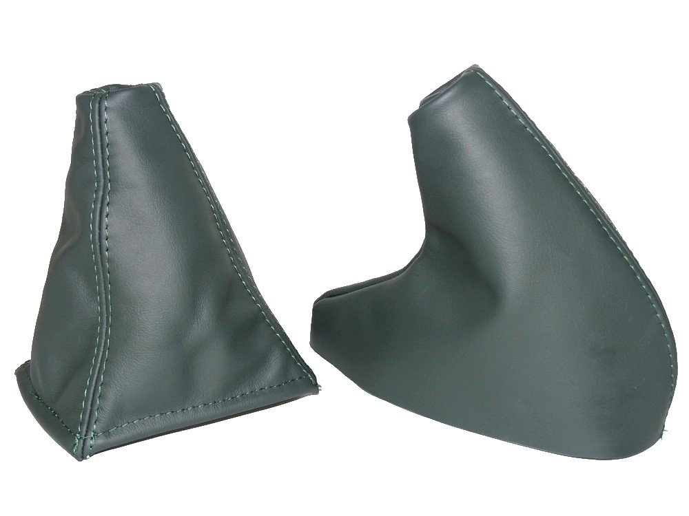 The Tuning-Shop Ltd Gear & Handbrake Gaiter Green Genuine Leather