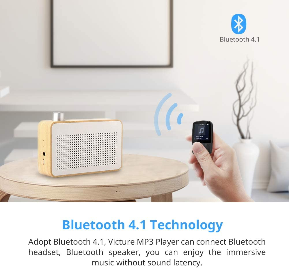 Victure MP3 Player Clip Bluetooth 8G with FM Radio Sport Pedometer ...