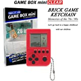 KincoBa Brick Game Keychain,with Hanging Chain,Mini Size,Bright Colors,Built-in 26 Brick Game Matches,Best Birthday Festival