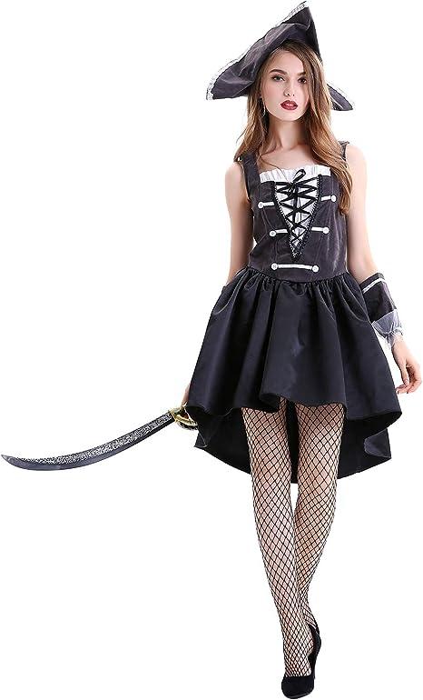 XINSH Disfraz de Halloween Bruja Mujer Corto Adulto Juego de rol ...