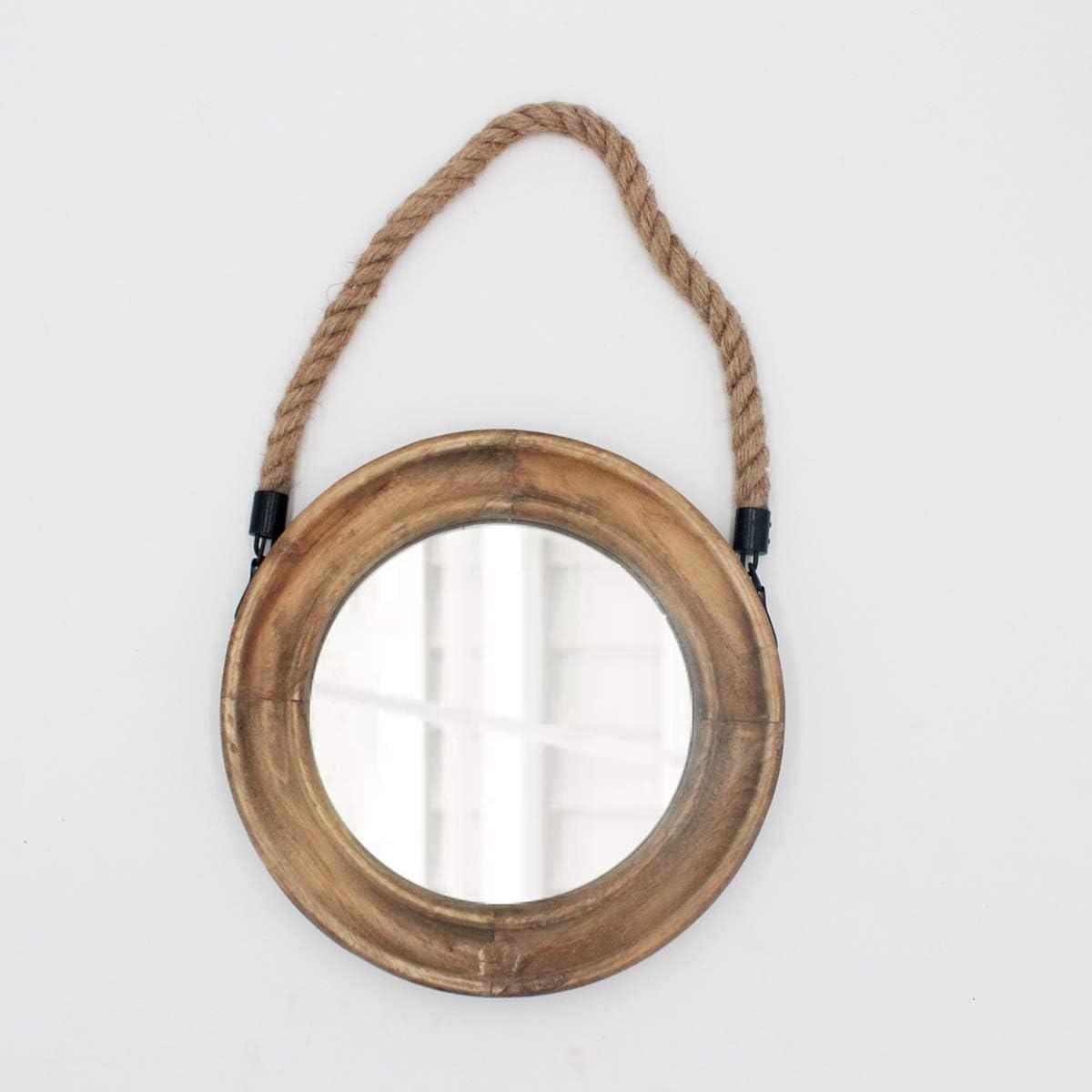 Rustic Round Decorative Mirror