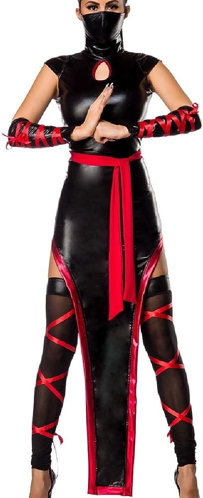Mujer Ninja Outfit Disfraz con vestido en Ninja Look Máscara ...