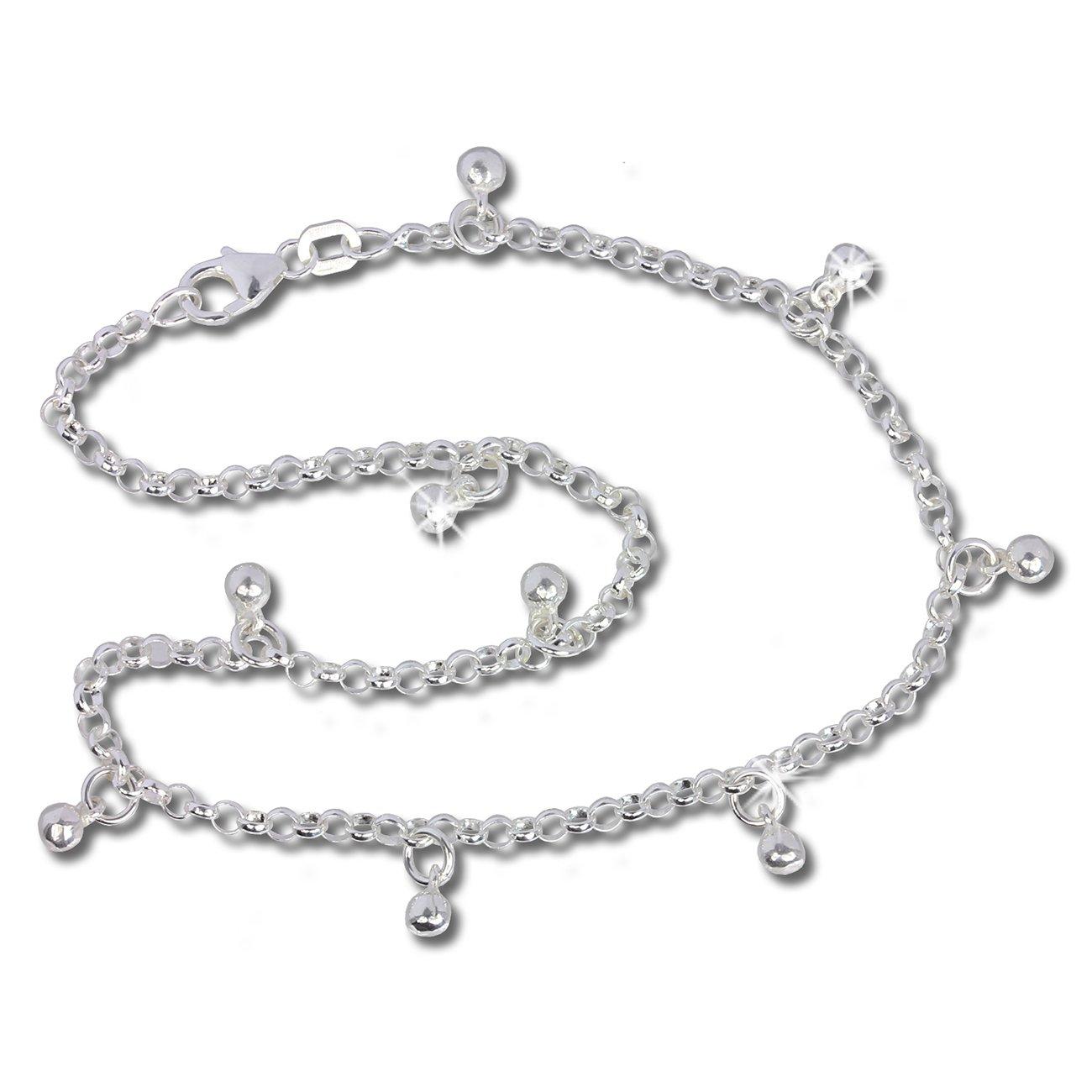 Bracelet de cheville SDF015 longeur env 25,5cm cha/îne de pied Bollywood SilberDream bijoux collection