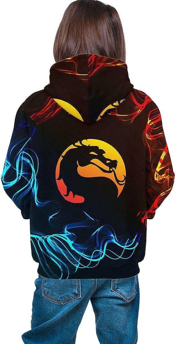 Sexcesal Teen Hooded Sweater Mortal Kombat-X Kids Hooded Sweatshirt 3D Print Hoodies Soft Unisex Hoodie for Boys and Girls