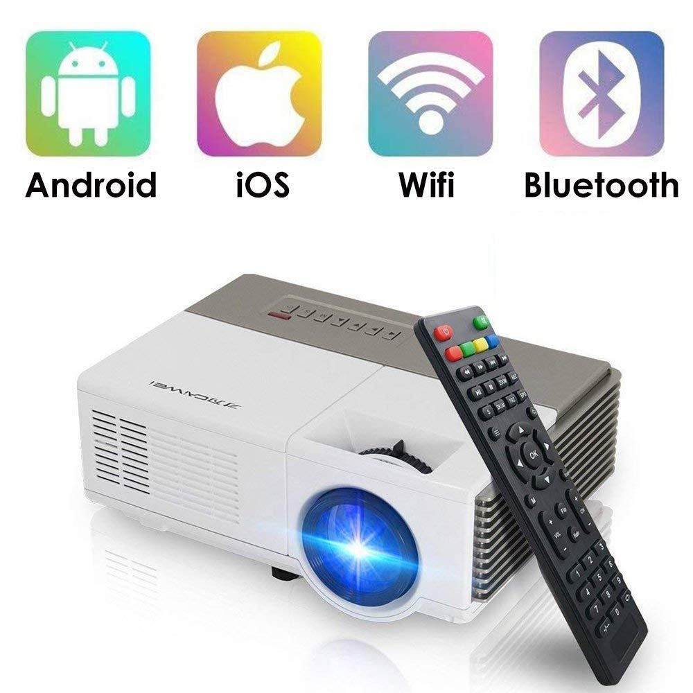 Portable Mini LED Projector Bluetooth Wifi Wireless LCD 1500 Lumens Multimedia Home Theater Video Proyector HDMI USB VGA Support 1080P HD Airplay ...