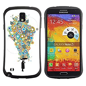 Hybrid Anti-Shock Bumper Case for Samsung Galaxy Note 3 / Cool Bubble Thoughts