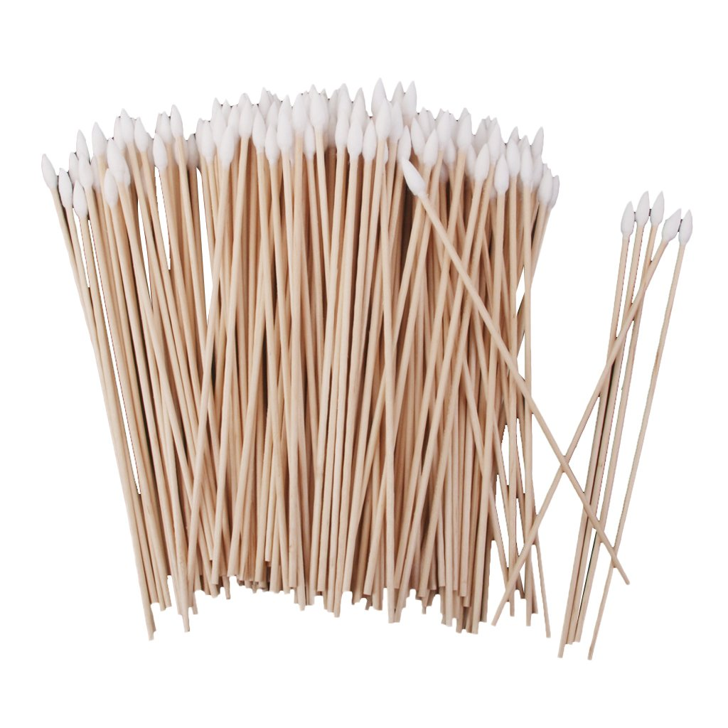 Baoblaze 200pcs Cotton Swabs Single Tip Wood Handle Makeup Applicators - Great for wound care, makeup applications, hobbies, crafts and more
