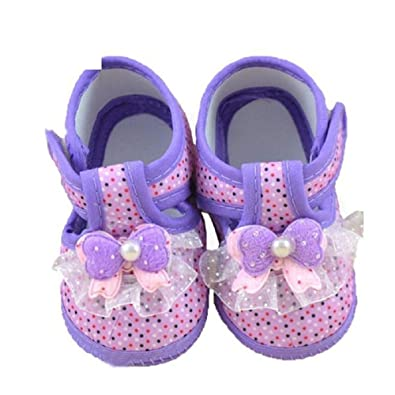 Princess Baby Girl Shoes First Walkers Soft Sole Infant Crib Moccasins Shoes for Babies Purple