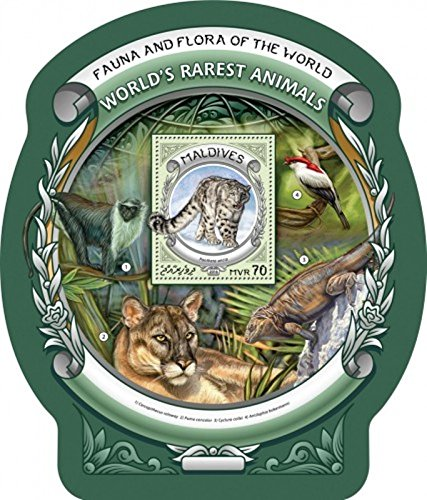 Maldives - 2016 World's Rarest Animals - Souvenir Sheet - MLD16605b ()