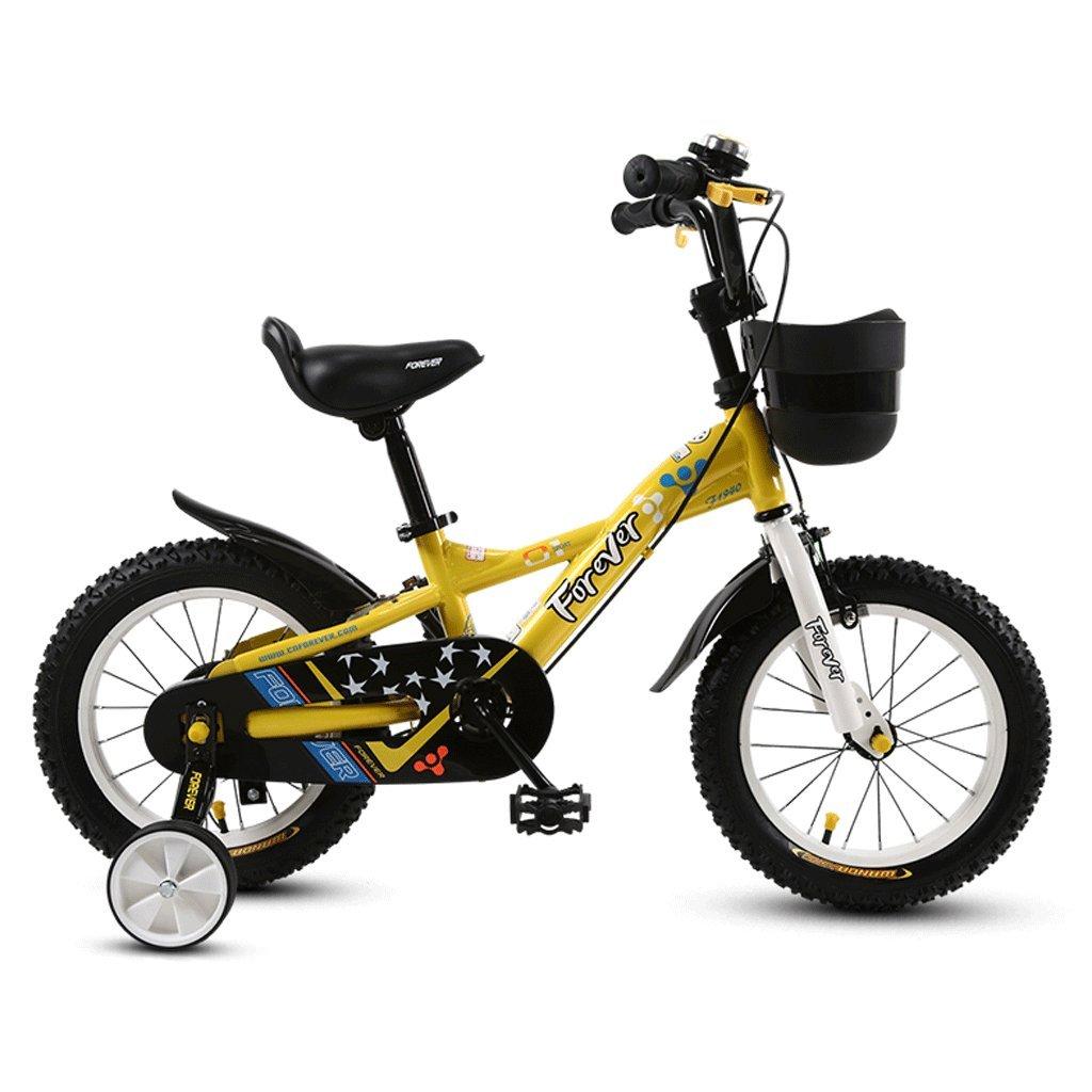 子供の自転車ベビーカー2-12歳の少年自転車の男の子自転車 (色 : イエロー いえろ゜, サイズ さいず : 14 inches) B07D34MGYJ 14 inches|イエロー いえろ゜ イエロー いえろ゜ 14 inches