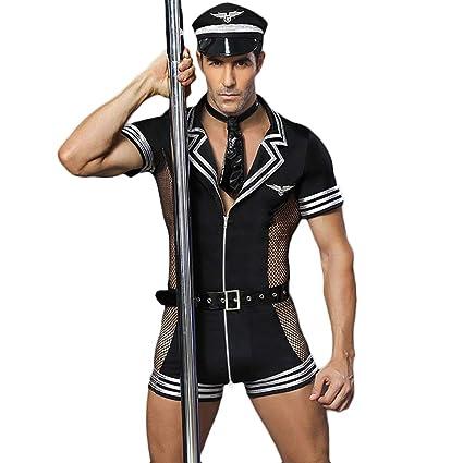 HJG Traje de Cosplay de Uniforme de Oficial de policía Sexy ...