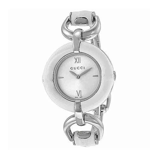 454f16655 Gucci Reloj Analógico para Mujer de Cuarzo con Correa en Acero Inoxidable  YA132406: Frida Giannini: Amazon.es: Relojes