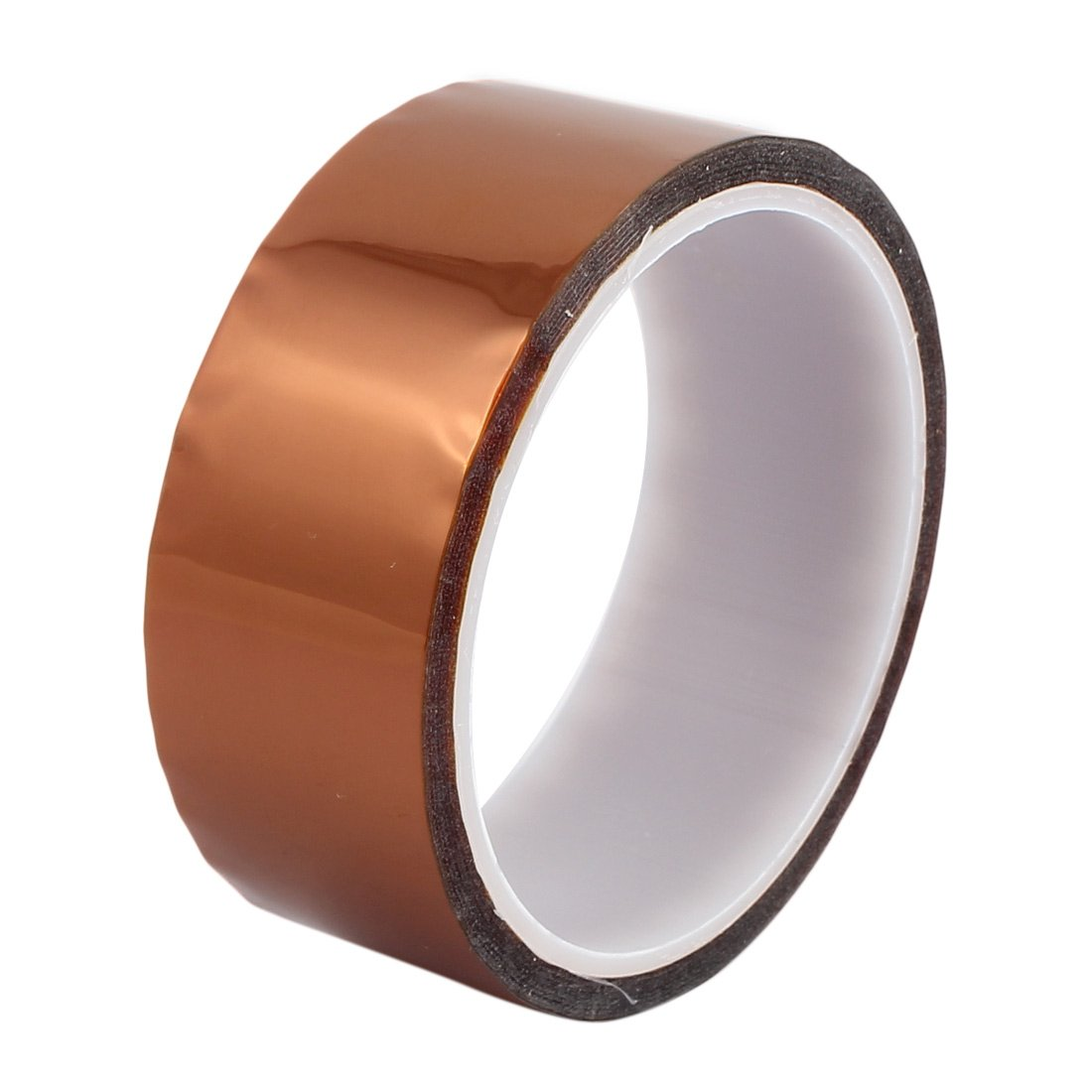 uxcell 35mm Width 30M Length High Temp Heat Resistant Polyimide Tape Brown